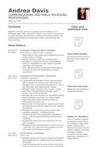 Communications Associate Sle Resume by Communications Specialist Resume Sles Visualcv Resume Sles Database