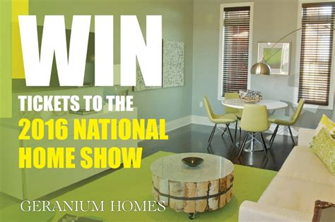 Home Show Giveaways - national home show giveaway geranium blog