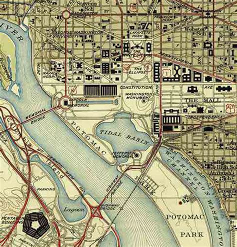 washington dc relief map topographical map of washington dc 1945