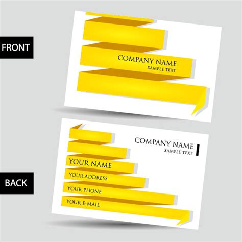 business card 3d template business card template 05 vector material download free