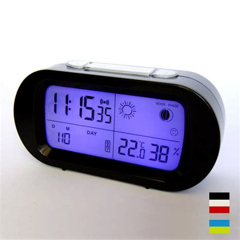 bedroom digital alarm clock led snooze alarm clock with backlight calendar weather