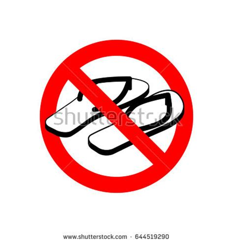 no slippers allowed sign no shoes allowed stock images royalty free images