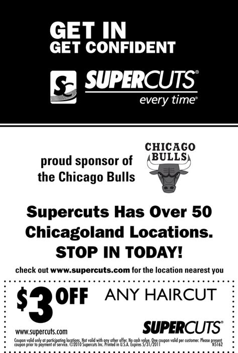 haircut coupons toronto supercuts coupon the official site of the chicago bulls
