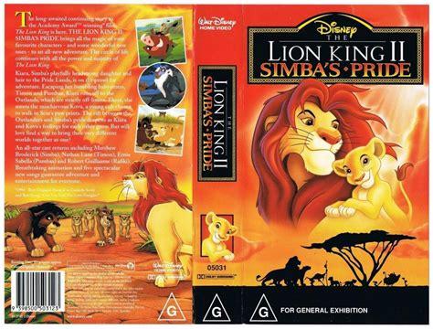 lion film pride disney the lion king 2 simba s pride rare vhs tape ebay