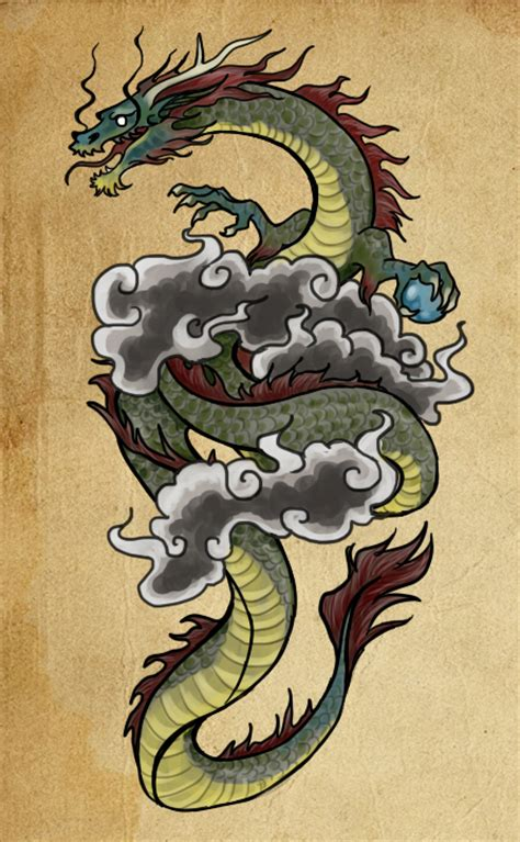 korean dragon tattoo designs design by paintaloosa on deviantart