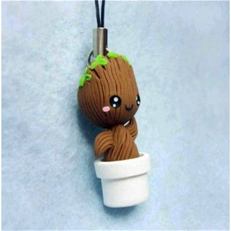 Keychain Groot 3 groot keychain mobile accesories fimo handmade llavero