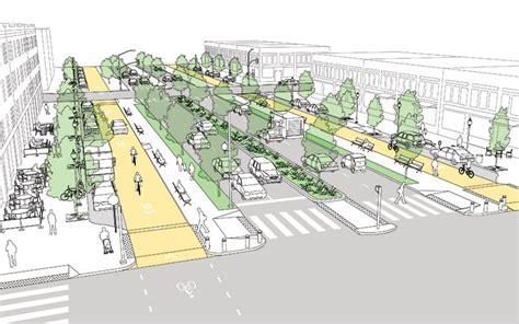 geometric design criteria for urban streets boulevard national association of city transportation