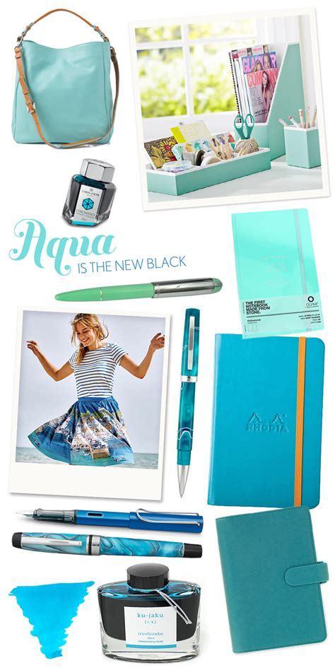 fashionable desk accessories fashionable friday aqua is the new black the well