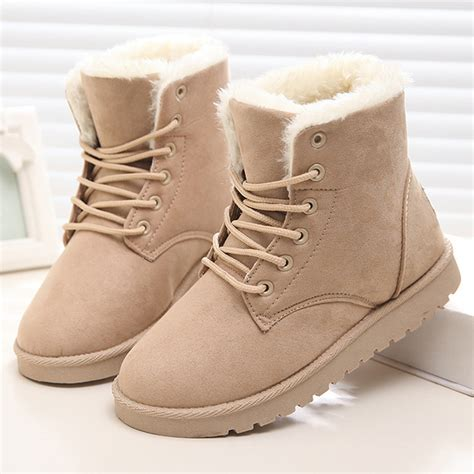 boots 2016 plush ankle boots for winter boots