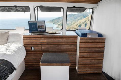 which minivan has the most room filmmaker converts cargo into modern live work space on wheels treehugger