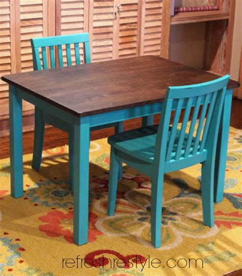 kid kitchen table 12 diy table makeovers delightfully noted