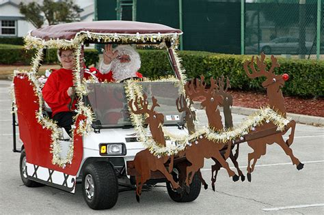 golf carts decerated for christnas 025 365 the clause s golf cart flickr photo