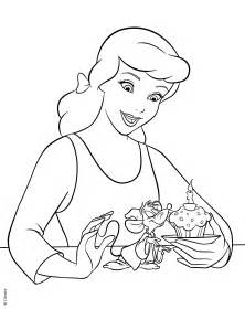 walt disney coloring pages princess cinderella amp jaq