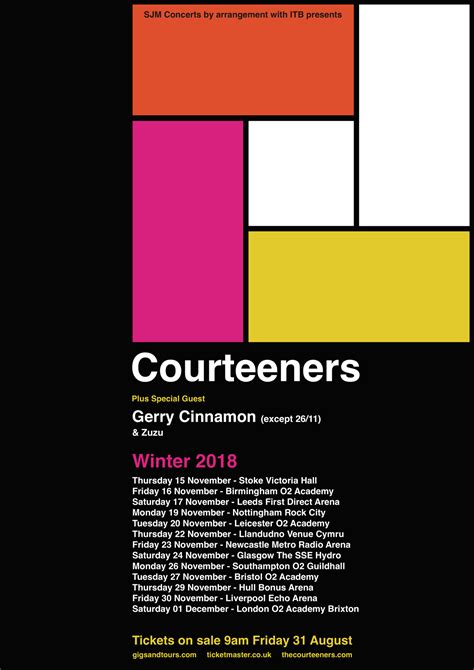 courteeners tickets courteeners winter tour announced the courteeners
