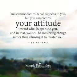 You can control your attitude by brian tracy with article by scott