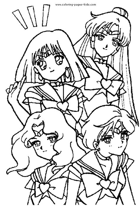 sailor moon color sailor moon color page coloring pages for