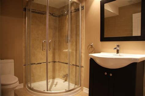 stand up showers can be installed on a basement useful