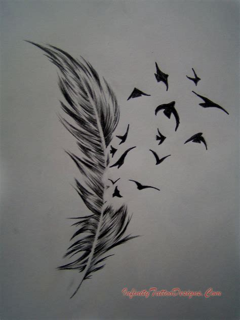 birds flying tattoo design feather images designs