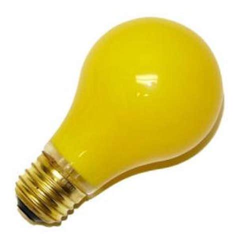 Bug Light Bulbs by Satco 03938 60a19 Y Bug Light 130v 2000hr Bug Light