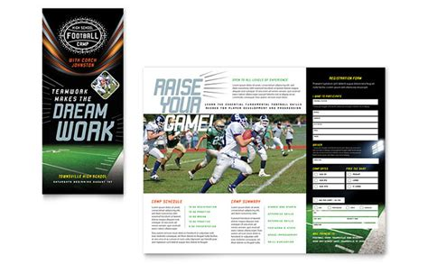 sports c brochure template football brochure template design