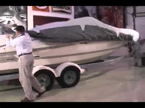 how to install a boat cover iboats how to install a universal boat cover youtube