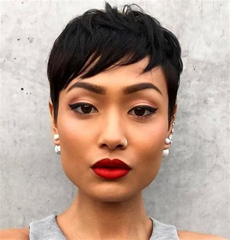 textured short pixie haircuts full effect 30 side swept bangs to sweep you off your feet