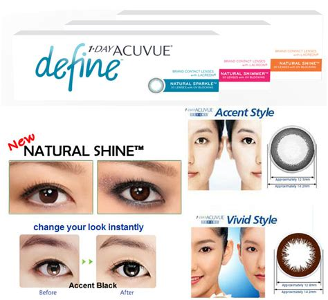 acuvue oasys colored contacts 1 day acuvue define daily disposable contact lenses