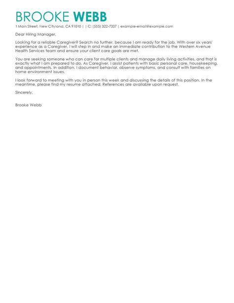 Live In Caregiver Cover Letter by Best Caregiver Cover Letter Exles Livecareer