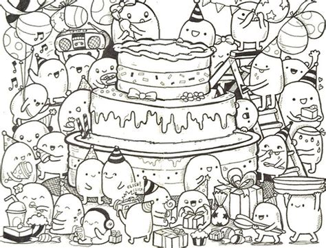 coloring pages for adults birthday adult coloring page happy birthday doodle cake 9 happy