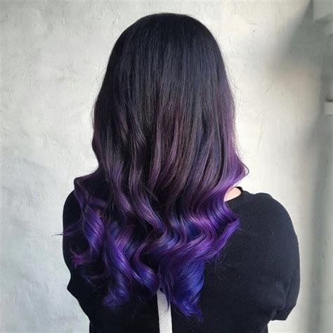 what purple hair dip dyed with black looks like dip dye hair color ideas for 2017 page 2 best hair