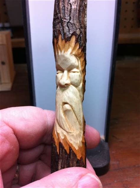 carving  tree spirit  beard  eyes  mpounders