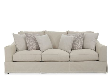 traditional skirted sofas traditional 98 quot skirted sofa in beige mathis brothers