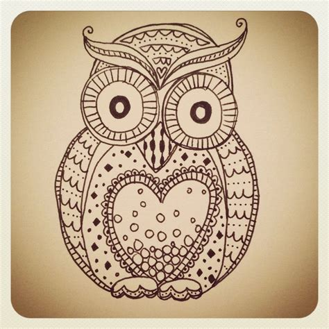 Doodle Owl Owls A Lot Of Owls