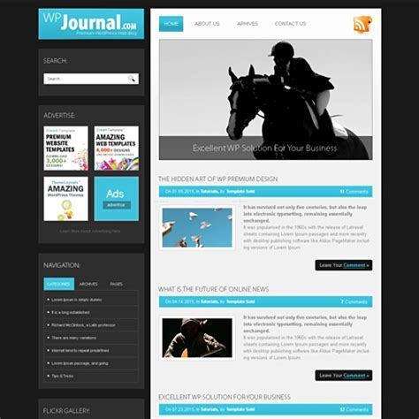 Journal Website Template Journal Html Template Blog Style Website Templates Templatesold Com