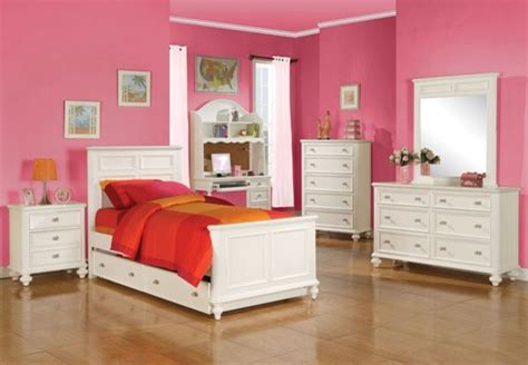 acme furniture athena transitional youth white 5