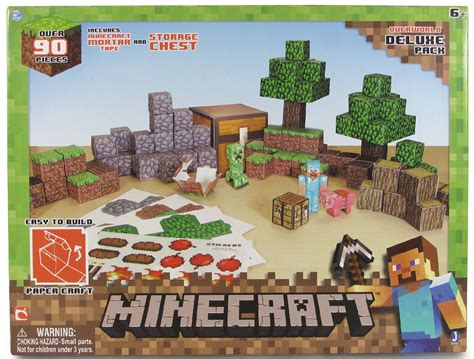 Minecraft Papercraft Overworld Deluxe Set - upc 681326167211 minecraft papercraft overworld deluxe