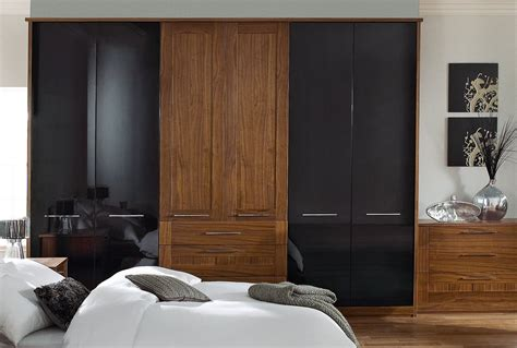 Sharps Fitted Bedroom Furniture Contrasting Black And Brown Bedroom Furniture Is An Accessible Way Of Creating A Dramatic