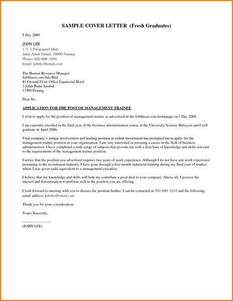 application letter for graduate application letter for fresh graduate of business