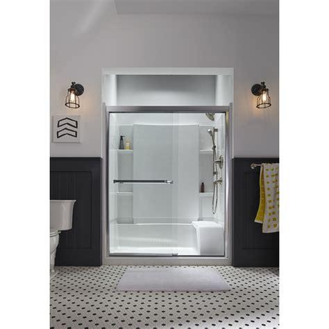 Shower Door Shop Clear Glass Frameless Sliding Bathroom Shower Doors Shop Sterling Meritor 54 375 In To 59 375 In
