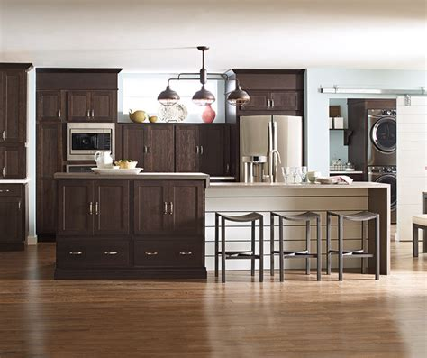 thatch cabinet finish  hickory schrock cabinetry