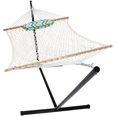 Portable Hammock And Stand Rope Hammock With Stand Pad Pillow Portable Heavy