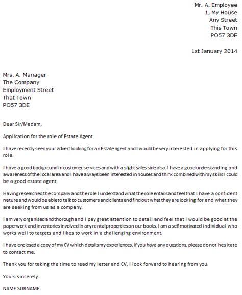 covering letter for estate estate cover letter exle icover org uk