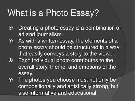 themes for a photo essay the photographic essay