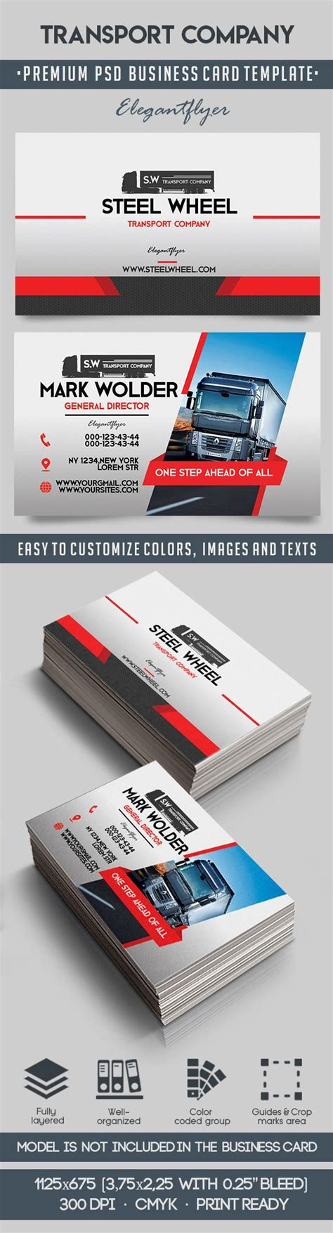 Business Cards For Transport Company transport company business card by elegantflyer
