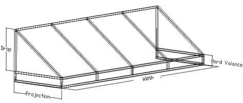 awning frame awning frame drawings