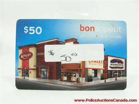 Bonappetit Gift Cards - police auctions canada bon appetit restaurant gift card 50 00 128346c