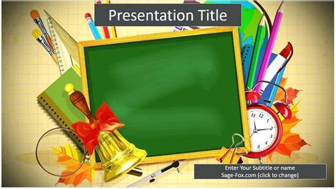 Template School Ppt Template School Themed Powerpoint Templates