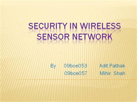 ppt templates for wsn security in wireless sensor network authorstream