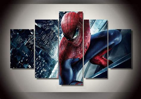 spiderman home decor large framed spiderman canvas print home decor wall art