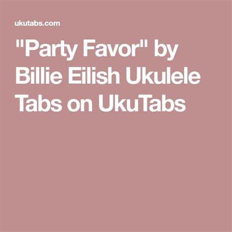 billie eilish party favor chords 514 best ukulele images on pinterest guitars one
